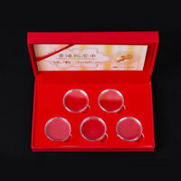 27mm Wooden Coins Display Storage Box Case For Collectible Coin With 5 Capsules