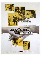 060 CARTE POSTALE film UNE FEMME MARIEE de Jean Luc Godard avec Macha Meril