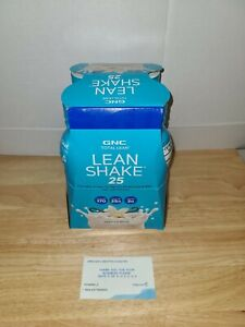 4 Pack Of GNC Lean Shake 25 Vanilla Bean Flavor 14 Oz