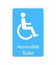 Disabled Toilet Signs Sticker Decal Graphic Accessible General Labels V4