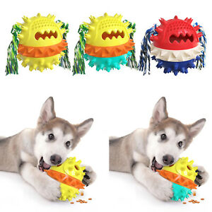 Pet Dog Chew Toys Molar Ball with Rope Indestructible Teething Play Toy