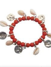 BNIP EB&IVE EB & IVE CORAL COLADA  BRACELET BEADS SHELLS EB AND IVE