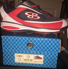Boombah Baseball Cleats Metal, Navy/Red, (Men's Size 12.5), NEW in BOX