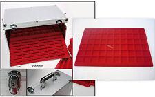SAFE Valigetta GIGANTE con 15 vassoi rossi per 900 monete fino un diametro 26 mm