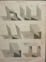 1813 DATED ANTIQUE PRINT ~ PERSPECTIVE VARIOUS