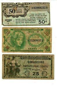 """3 FOR 1 (MILITARY PAYMENT)  3 FOR 1 """"MILITARY PAYMENT"""" 1800'S  3 FOR 1 MONEY !!"""