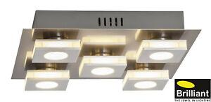 Brilliant® Transit LED Wand- & Deckenleuchte 30x30 cm, 5x4 W, 1600 lm G67495/21