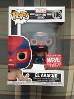 Funko POP AMAZON EXCLUSIVE Marvel Collector Corps Lucha Libre El Aracno MINT