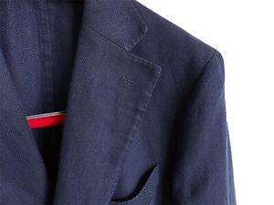 SuitSupply Sportsakko Havana Leinen blau 50 48 (Jacket boglioli suit supply)