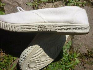 vintage weisse Leinen GERMINA SPORTUS Turnschuhe ddr baskets NOS sneakers Gr.41
