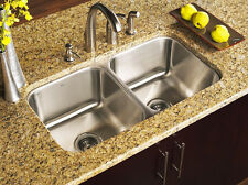 KE Stainless Steel Undermount Kitchen Sink Double 16G 50/50 Equal 16 gauge 9""