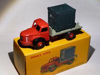 Berliet plateau et container - ref 34B / 34 B au 1/43 de dinky toys atlas