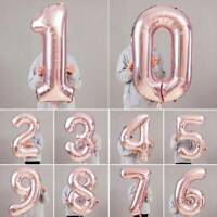 "Rose Gold 40""Giant Foil Number Helium Large Balloon Birthday Party Wedding Decor"