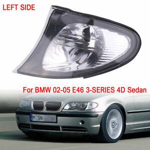 Left For 02-05 BMW E46 3-SERIES 4DR Sedan Corner Lights - Crystal Clear Lens