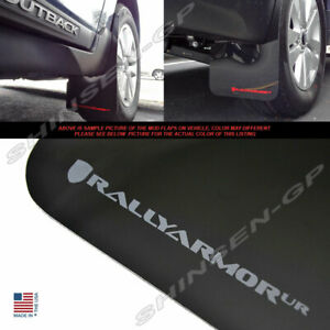 Rally Armor UR Black Mud Flaps w/ Grey Logo for 2015-2019 Subaru Outback Wagon