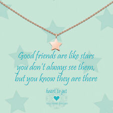 """heart to get - Kette mit Anhänger """"Good friends are like stars"""" Silber ROTGOLD"""