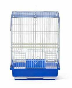 Prevue Pet Products Flat Top Economy Bird Cage Blue and White 31991