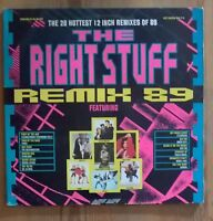 """Various -The Right Stuff Remix 89 2× Vinyl LP Comp Gate 33rpm 12"""" remixes1989"""