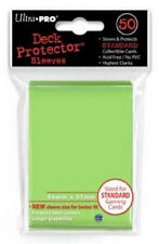ULTRA PRO 50CT LIME GREEN STANDARD DECK PROTECTOR SLEEVES #84099 NEW