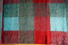 041111 Boiled wool Fabric Check Blue Loden Walkstoff 1m x 1,6 m