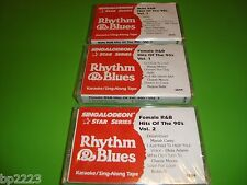 R&B HITS OF 90'S 3-PK KARAOKE CASSETTES, SINGALODEON,  BRAND NEW, SEALED