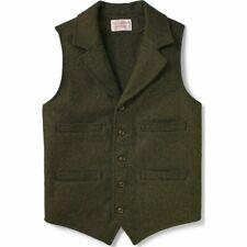 Filson Western Vest Forest Green 100% Wool, Men's XS NWT MSRP $195