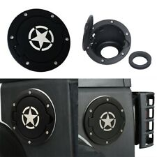 Star Style Gas Tank Cover Fuel Cap Fit For 07-18 Jeep Wrangler JK  2/4 Door