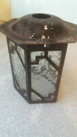 VINTAGE SMALL METAL HALL CEILING LIGHT SHADE PENDANT - 5 X 6 INCH - NEEDS REWIRE