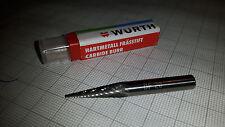 Würth Frässtift  Hartmetallfräser 6x20mm Form SKM Schaft 6mm