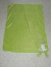 MAISON CHIC FROG PLUSH BLANKET LOVEY BABY FLEECE SOFT CORDUROY CORNER