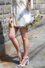 ZARA WHITE HIGH HEEL SANDAL SHOES WITH ANKLE STRAP UK3/EUR36/US6 REF 6456 201
