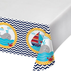 Ahoy Matey Baby Shower Birthday Party Tablecover 137cm x 259cm