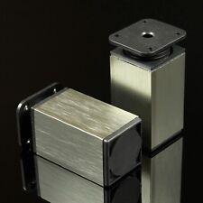 40x40 EDELSTAHL Höhe: 80mm Möbelfuß Möbelfüße Sockelfuß Sockelfüße Schrankfuß