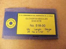 C.S. Osborne #518 Glovers Needles Size 00 (Pack of 25)