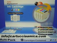 10 CARTUCCE COMPATIBILI CERT. ISO 9001 STAMPANTE EPSON Stylus SX210