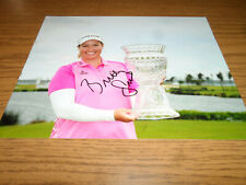 Brittany Lincicome Signed/Autographed 8X10 Photo Lpga.Trophy Cup