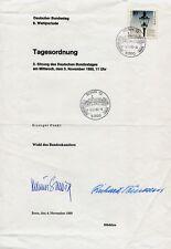 HELMUT SCHMIDT + RICHARD STÜCKLEN, orig. Autogramm, Wahl des Bundeskanzlers