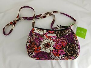 Vera Bradley Little Crossbody Rosewood Small Floral Print Handbag New with Tag