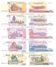 Cambodia 50 + 100 + 500 + 1000 + 2000 Riels Set of 5 Banknotes 5 PCS UNC