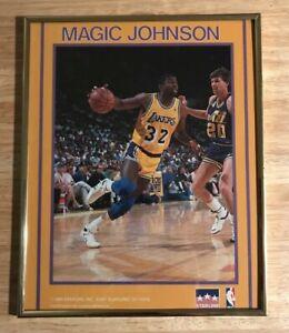 Earvin Magic Johnson 1989 Starline Inc 8x10 Vintage Framed Lakers Poster