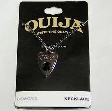 "Ouija Board Planchette ""Mystifying Oracle"" Faux Jewel Hematite Pendant Necklace"