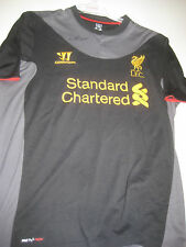 LIVERPOOL- STEVEN GERRARD HAND SIGNED 2012-13 AWAY JERSEY + PHOTO PROOF + C.O.A