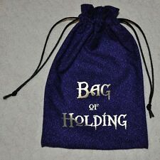 D&D Dungeons & Dragons game dice magic BAG of HOLDING handmade drawstring bag