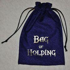 D&D Dungeons & Dragons game dice magic BAG of HOLDING handmade drawstring bag