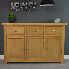 Oakley Oak Sideboard Large / Cupboard / Solid Wood / Storage Dresser Light Tone