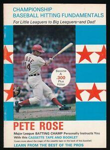 1970 PETE ROSE TOUGH VIMAR CHAMPIONSHIP HITTING BOOKLET CINCINNATI REDS EXMT++