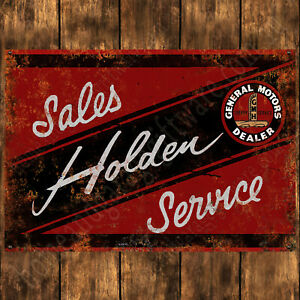 200mm x 285mm ALUMINIUM SIGN - HOLDEN SALES AND SERVICE
