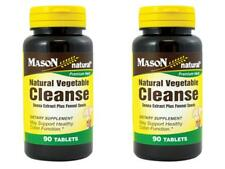 PACK2 X 90 = 180 TABLETS NATURAL VEGETABLE CLEANSE SENNA EXTRACT FENNEL cleanser