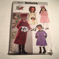 Butterick Sewing Pattern 3634Dress Girls Coat Size 2,3,4,5  New Package Dmg