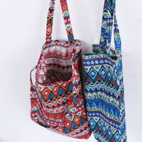 Ethnic style linen bag tote ECO shopping outdoor canvas shoulder b tx